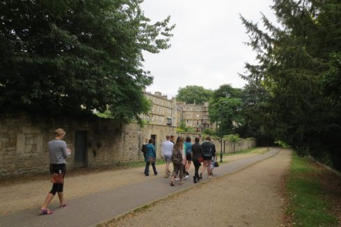 Walking down The Gravel Walk in Bath connects the Royal Crescent with Queen's Square, which was the secluded walk that Captain Wentworth and Anne Elliot of Jane Austin's famous novel Persuasion once walked.