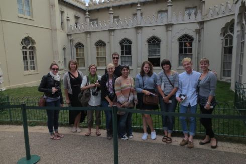 UWSP group in front of the Royal Pavilion!