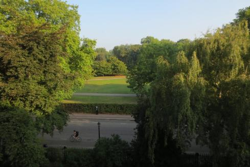 Outside of my window I have views directly into Regents Park. Perfect for running.