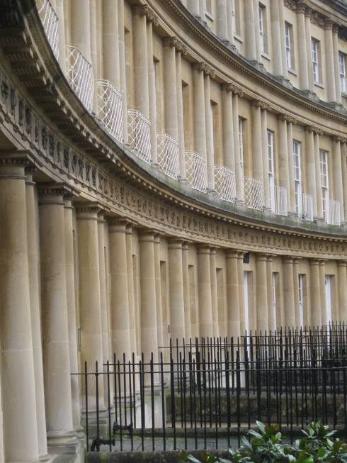 Crescent townhouses at Kings Circus, Bath.