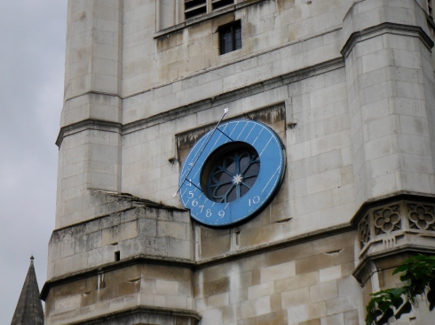 There is a very cool clock on St. Margaret Church.