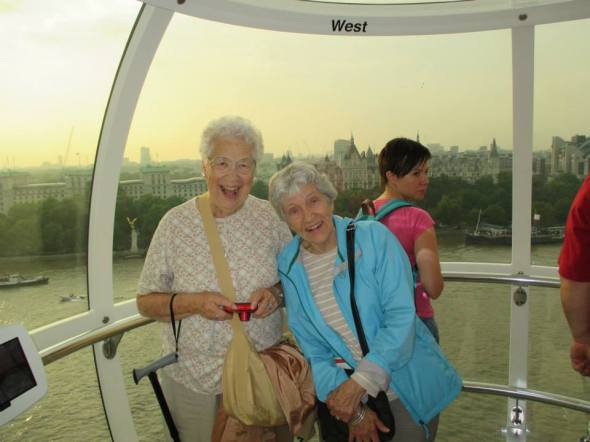 Wombat and Mary, in the London Eye