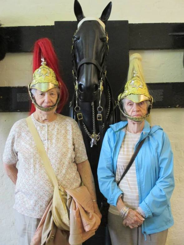 Wombat and Mary, future horse guards