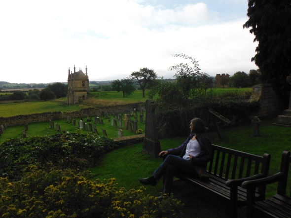 Hanging out in the church yard, Chipping Camden